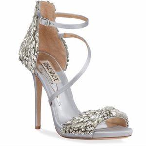 NIB Badgley Mischka Selena Jelewed Satin Sandals
